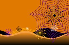 Web de araña abstracto de Víspera de Todos los Santos ilustración del vector