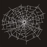 Web de araña o vidrio quebrado Imágenes de archivo libres de regalías