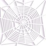 Web de aranha de papel Tipo espiral da esfera Decoração a Halloween ícone Fotos de Stock
