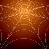 Web de aranhas assustador Fotografia de Stock Royalty Free