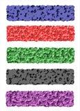 Web de bannières, coloré, original Images libres de droits