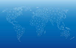 Web de carte du monde Illustration Stock
