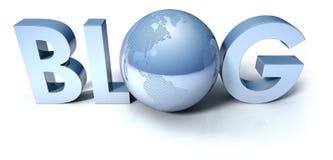 Web de concept de blog Image libre de droits