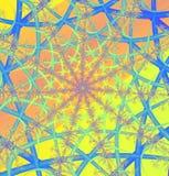 Web de fractale illustration de vecteur