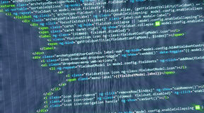 Web de HTML de code informatique d'Internet Image libre de droits