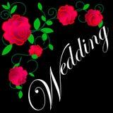 web De kaart van het huwelijk of uitnodiging met abstracte bloemenachtergrond Groetprentbriefkaar in grunge of retro vectorelegan vector illustratie