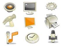 Web de los iconos stock de ilustración