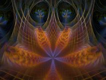 Web de Phoenix Lotus Flame Fractal illustration libre de droits