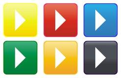 Web de pièce de bouton Images stock