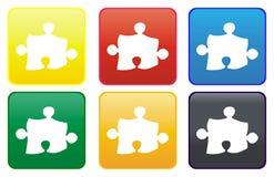 Web de puzzle de bouton Photographie stock