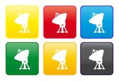 Web de radar de bouton illustration stock