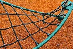 Web de terrain de jeu en vert et noir Photo libre de droits