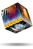 Web de WWW do Internet Fotografia de Stock