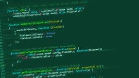 Web del HTML del código de ordenador de Internet stock de ilustración