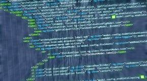 Web del HTML del código de ordenador de Internet Imagen de archivo libre de regalías
