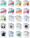 Web del juego de herramientas de los diseñadores 2.0 iconos Imágenes de archivo libres de regalías