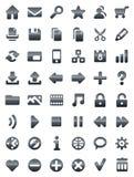 Web del metallo ed icone di multimedia Immagini Stock Libere da Diritti