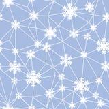 Web del modello senza cuciture dei fiocchi di neve di Natale illustrazione vettoriale