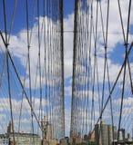 Web del ponte di Brooklyn Fotografie Stock Libere da Diritti