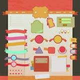 Web del vintage y disposición de diseño de las etiquetas 2 Imagen de archivo libre de regalías