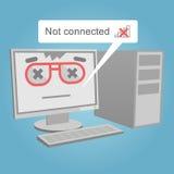 Web dell'icona del computer non collegato Fotografia Stock Libera da Diritti