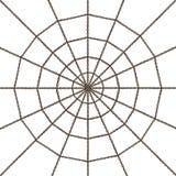 Web della catena d'acciaio isolato immagini stock