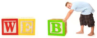 WEB in den Alphabet-Blöcken Lizenzfreies Stockfoto