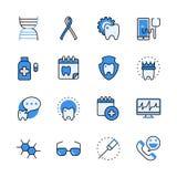 Web dental médica v liso do lineart da ajuda dos cuidados médicos ilustração do vetor