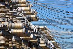 Web des fils électriques Image libre de droits