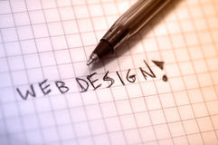 Web design. Write by hand royalty free stock image