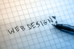 Web design. Write by hand royalty free stock photos