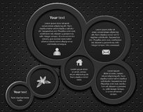 Web design 3D bubble. On black background-vector Royalty Free Stock Image