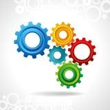 Web design abstrait avec l'espace de copie dans la roue de dent illustration de vecteur