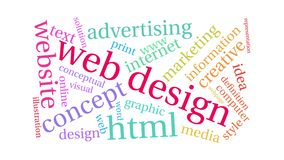 Web Design Animated Word Cloud