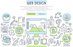 Web Design banner Royalty Free Stock Photos