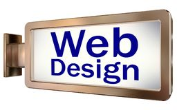 Web Design on billboard background Royalty Free Stock Photo