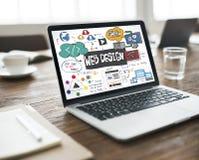 Web Design Blogging Layout Database Information Concept. Web Design Layout Information Concept Royalty Free Stock Photo