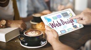 Web Design Browsing Technology Connection Icon Concept Stock Photos