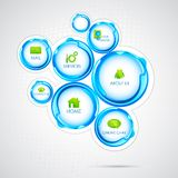 Web Design Bubble. Illustration of colorful web design bubble template Royalty Free Stock Photography