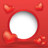 Web design bubble with hearts Stock Photography