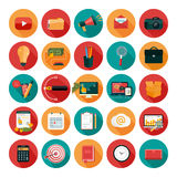 Web design, business, office and marketing icons. Stock Photos
