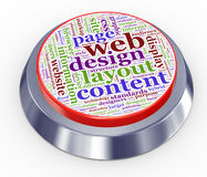 Web design button. 3d render of web design button Royalty Free Stock Images