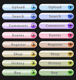 Web design buttons collection Royalty Free Stock Photos