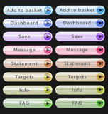 Web design buttons collection Stock Photo