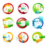 Web design circle boxes for web promotion Royalty Free Stock Photo