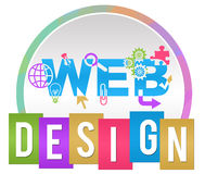 Web Design Circle Stripe Colorful Royalty Free Stock Photo