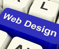 Web Design Computer Key Stock Images