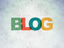 Web design concept: Blog on Digital Paper Royalty Free Stock Photography