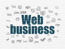 Web design concept: Web Business on wall background Stock Photos