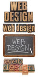 Web design concept collage Royalty Free Stock Images